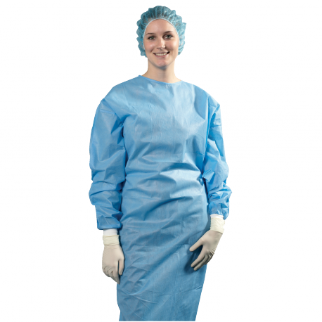 Sterile gown with 2 hand towels