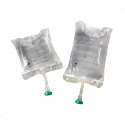 Saline solution pouches