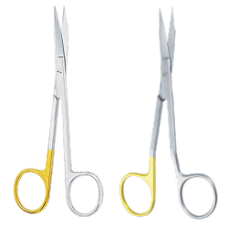 Micro-Scissors Goldmann-Fox with tungsten