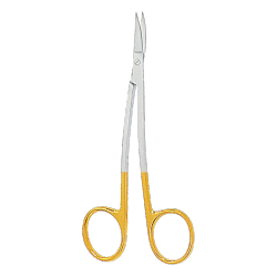 Scissors with TC, LA-GRANGE, 11,5 cm, sharp-sharp, S-shape