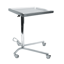 Hydraulic mayo table with swivel